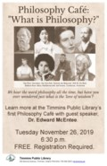 Philosophy Cafe Poster