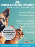 Rabies Microchip Clinic Poster