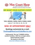 SHOP JULY We Want Your Clothes Event Poster 2020 JPEG