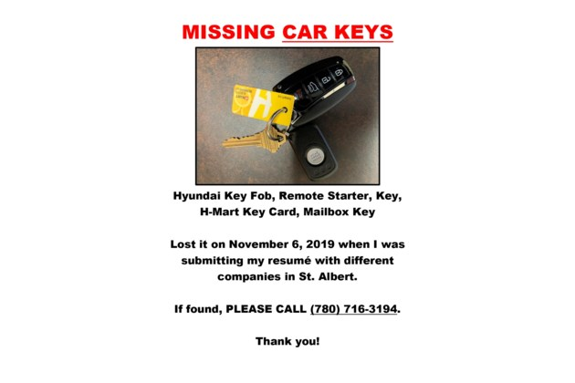 Missing Car Keys