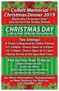 Al Collett Christmas Dinner Poster