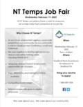 NT Temps Job Fair Bradford Works - New