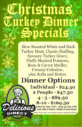 2020 Turkey Dinner Options