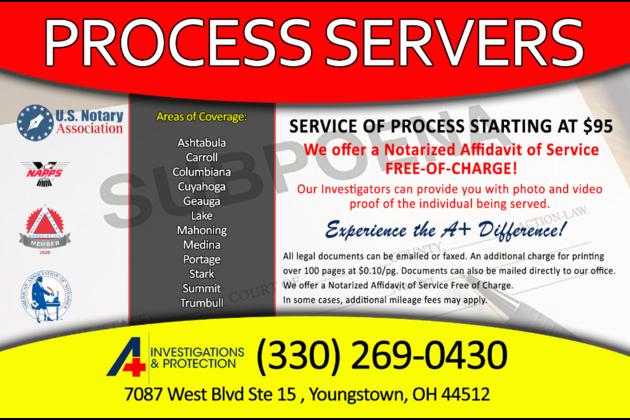 Process Servers In Boardman Ohio