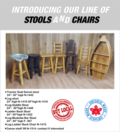 Our bar stools and chairs