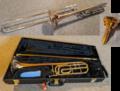 trombone and mouthpiece