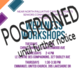 wellness workshops header postponed