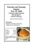 Pancake Supper 2020 Poster