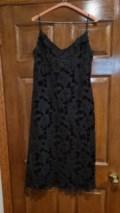 black velour spaghetti strap dress 1