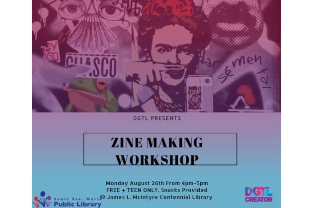 Zine Workshop August 26