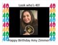 Amy birthday poster