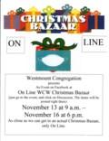 Poster for On Line Christmas Bazaar