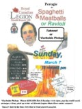 Perogie Takeout & Spaghetti & Meatballs Takeout Curbside Mar 7
