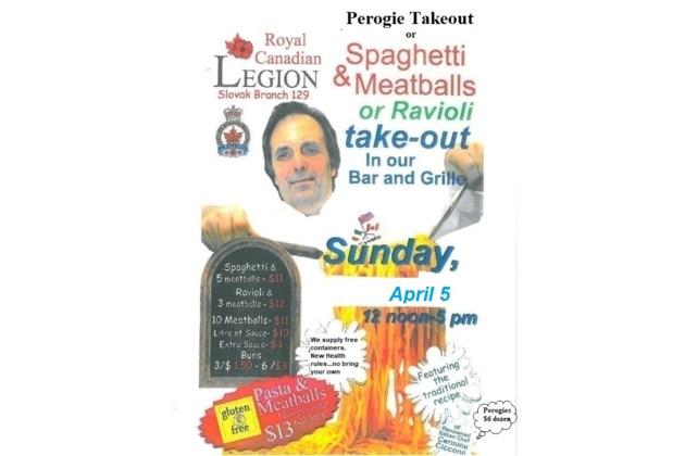 Perogie Takeout & Spaghetti Takeout April 5