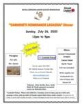 Carmines Homemade Lasagna Dinner Poster2-1