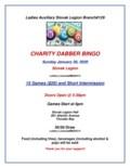 Charity Dabber Bingo January26-1