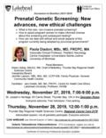 poster Nov 27 & 28, 2019 - Prenatal genetic screening