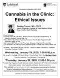 poster Jan 29 & 30, 2020 - Cannabis in the clinic