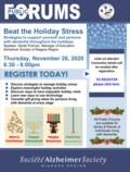 Beat the Holiday Stress Public Forum