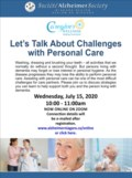 Lets Talk About Challenges with Personal Care July 15