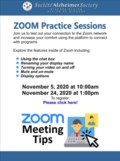 Zoom Practice Sessions Nov