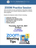 April 22 Zoom Practice Session