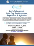 March 24 Lets Talk About Late Day Restlessness