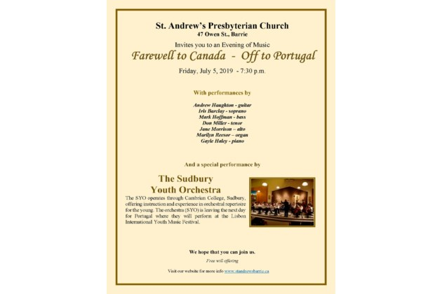 Farewell to Canada