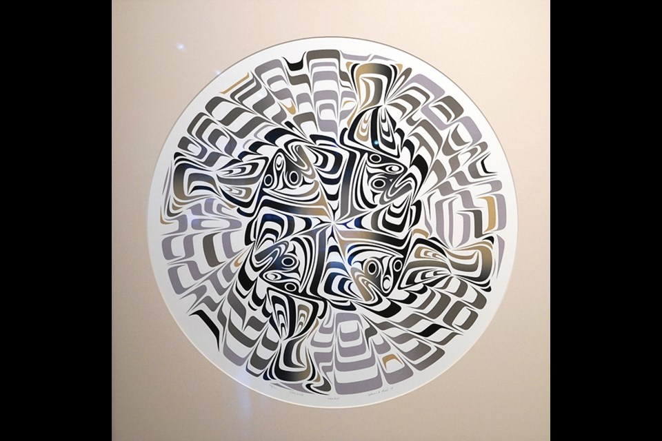 "Halibut, bySusan A. Point, 2007 Serigraph: Ink on paper 30"" X 30""."
