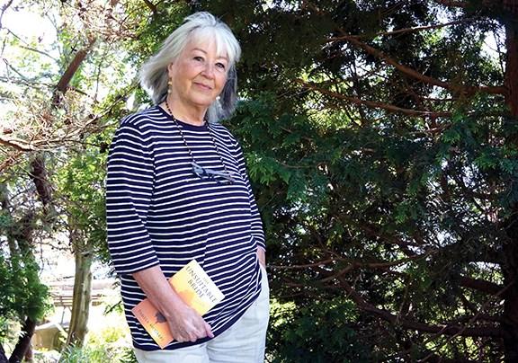 Author Pamela McGarry at Winegarden Park in Gibsons.