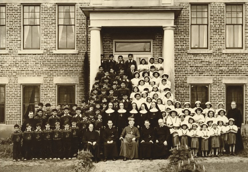 Sechelt Residential School-group