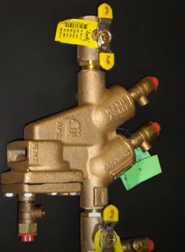 An example of a reduced pressure backflow preventer valve that would be required in residential grey-water reuse systems if Sechelt is successful in seeking regulations changes that would make reuse systems mandatory in residential properties.