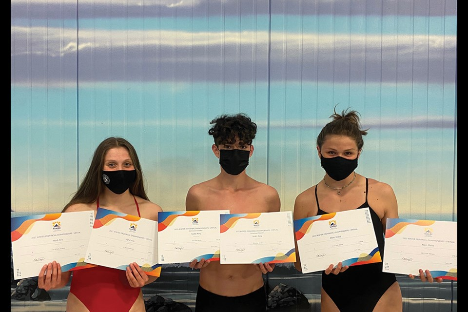 From left: Ava Hynd, Rory Scott and Eloise Allen.