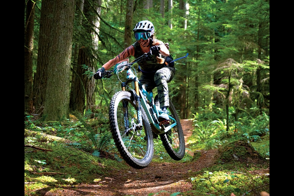 Sherry Staples riding the course at the Sunshine Coast Women's Enduro, July 17.