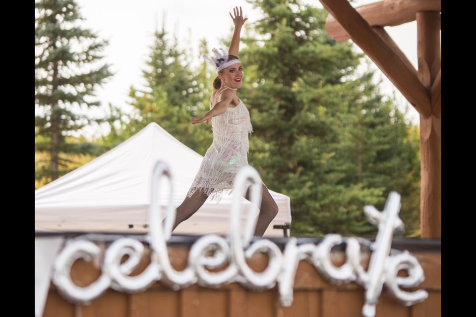 Snap Dance Studios 2020 graduate Michaela C. performs at a 10th anniversary celebration at the Mitford Park Stage on Saturday (Sept. 12). (Chelsea Kemp/The Cochrane Eagle)