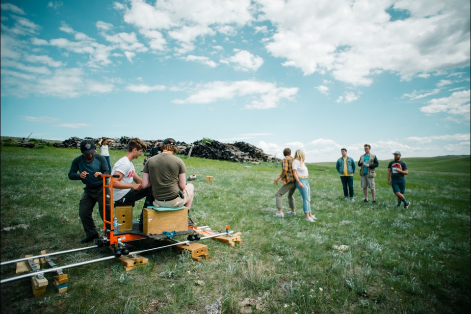 The cast and crew at the Historic Graham Ranch in Drumheller, Alta. Submitted photo.