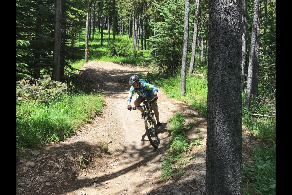 A biker speeds down the 7-27 trail. SUBMITTED PHOTO