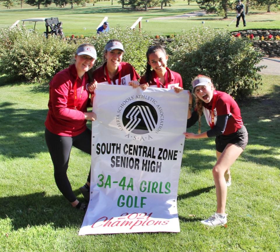 Cochrane High senior girls golf win zones