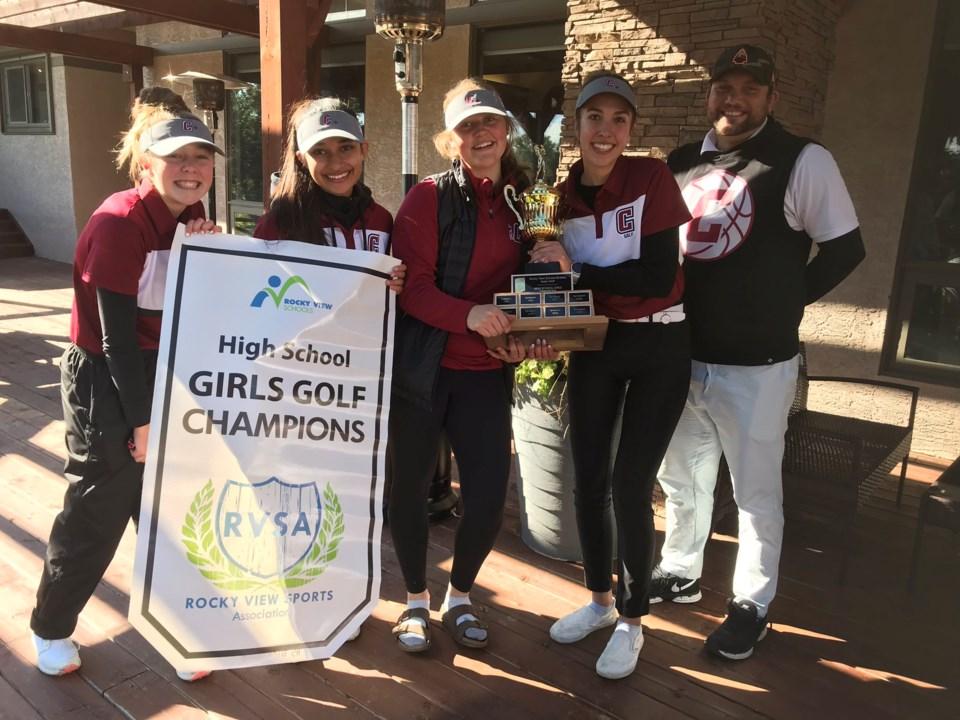 Cochrane High sr girls golf win first