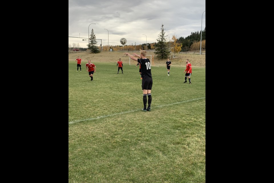 The Cochrane Rangers men's competitive soccer team play against the Latin Furia Soccer Club at the Cochrane Rangers Field on Saturday (Oct. 2). The Rangers won 6-1, finishing their season undefeated.