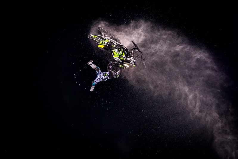 XGames Snowmobile Freestyle by Jacquie Matechuk.
