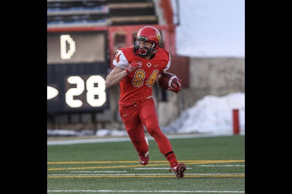 Erik Nusl of Cochrane is looking to help bring the University of Calgary Dinos their first Vanier Cup since 1995. 