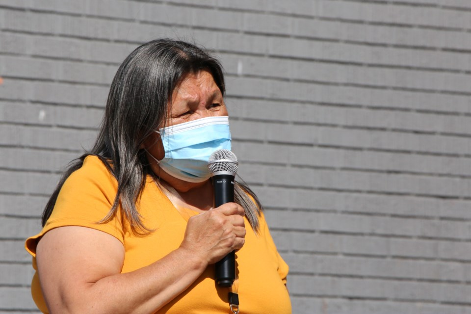Jeanette Wildman discusses how the effects of the Residential School system affect the community today. (Tyler Klinkhammer/The Cochrane Eagle)