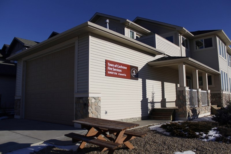 The Town of Cochrane has vacated its unstaffed fire hall in the Sunset neighbourhood.