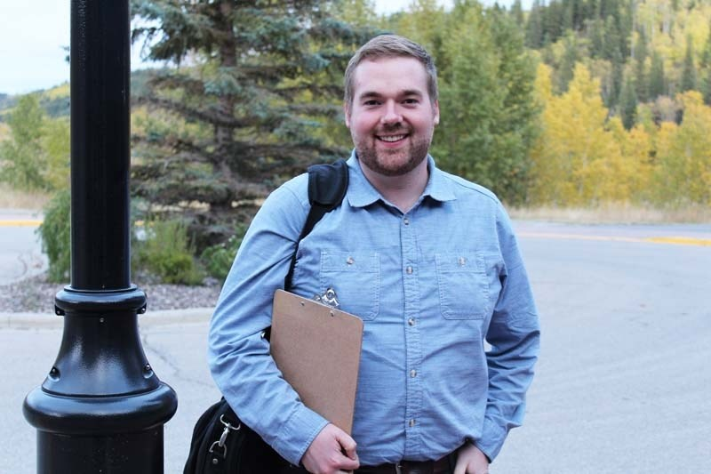 Coun. Morgan Nagel, who is seeking re-election for a second term on town council, released a video on social media calling on Cochranites to take action against town traffic