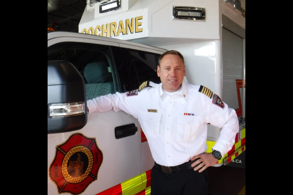Shawn Polley, the deputy fire chief at Cochrane Fire Services since 2017, was promoted to fire chief on Dec. 14. Photo submitted.