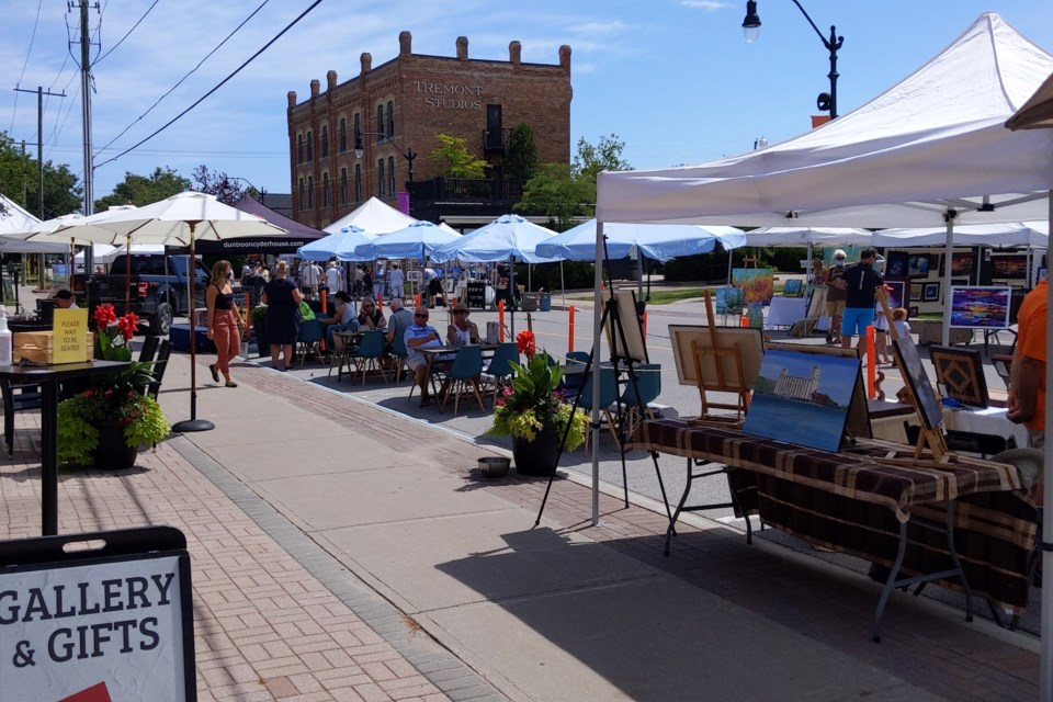 This summer, Creative Simcoe Street closed down for pedestrians only on Saturdays to celebrate the arts and entertainment located in the area. Contributed photo