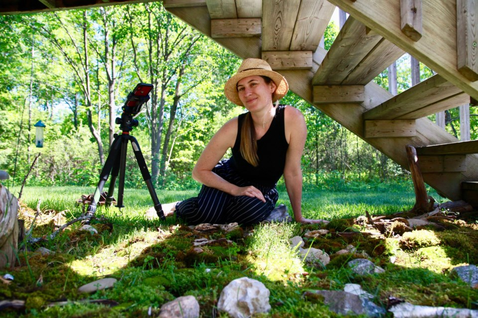 Jennifer Lyon created a moss garden to symbolize the resilience of nature and her unique connection to it during her time in quarantine. Contributed photo
