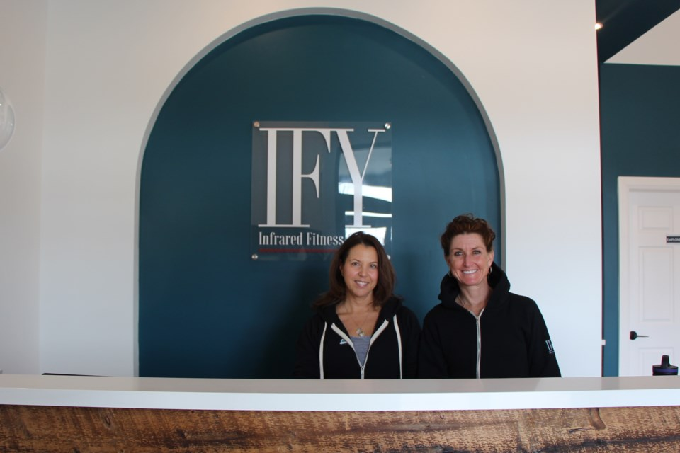 Lynn Beauregard and Marlo Stoutenburg are excited about the family they have created at Infrared Fitness & Yoga. Maddie Johnson for CollingwoodToday
