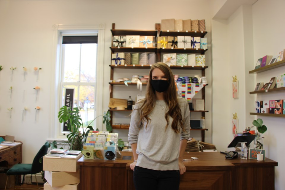 """Paper is a """"lifelong obsession"""" of Caroline Benner's, the owner of a new stationery shop in Collingwood. Maddie Johnson for CollingwoodToday"""